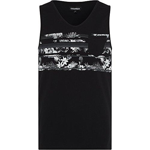 Chiemsee Herren Brusttasche Bekleidung/T-Shirts/Tops/Polos Tank Top/ 997 Deep Black
