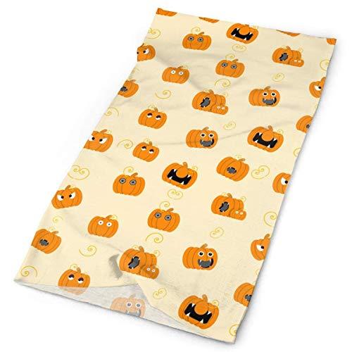 Jolly2T Lovely Pumpkin Halloween Pattern Tube Bandanas Headwear Headband Multi Scarf Face Mask Neck Gaiter (Bug Halloween Candy)