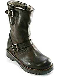 Gallucci J05072AM hohe Lammfell Boots Stiefel Mädchen und