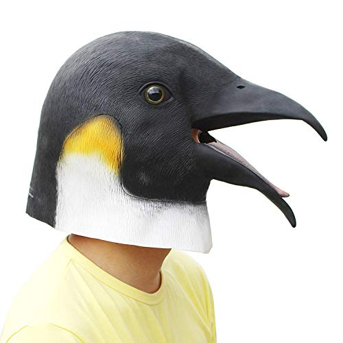 PartyCostume - Pinguin Maske - Halloween Latex Tier Maske (Maske, Halloween Tier)