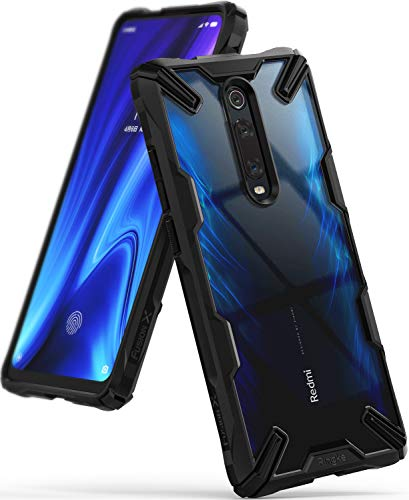 Ringke Fusion-X Disegnato per Cover Xiaomi Mi 9T (Mi 9T PRO), Cover Redmi K20 (K20 PRO) Coperchio di Protezione per Custodia Xiaomi Mi 9T, Redmi K20 (2019) - Black