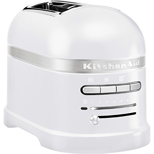 KitchenAid 5KMT2204EFP - Tostador, 1250 W, 220-240 V, 18 x 33 x 22.5 cm, color blanco