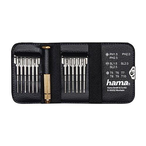 Hama Feinmechaniker Mini Schraubendreher-Set für Uhr, Brille, Modellbau, Handy, PC, Laptop (Magnetisierbar, Torque, Schlitz, Kreuzschlitz) Werkzeug-Set 13-teilig - 3