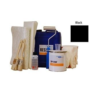 2sqm fibreglass / grp pond kit - black topcoat, lloyds resin, fibreglass matting & application tools 2sqm Fibreglass / GRP Pond Kit – Black topcoat, lloyds resin, fibreglass matting & application tools 41Y9MKYAPfL