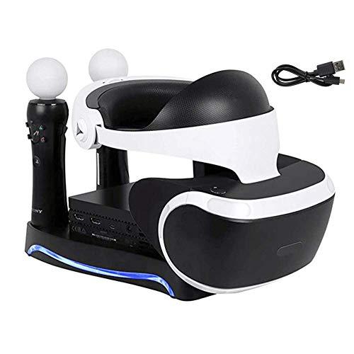 WANGOFUN PSVR Ricarica Display Stand, Showcase, e visualizzare la PS4 VR Auricolare e Il processore-Showcase e spostare Controller Stazione di Ricarica