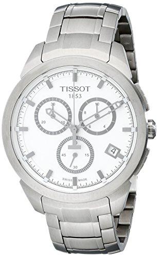 Tissot Herren-Armbanduhr XL Titanium Chronograph Quarz Titan T069.417.44.031.00 (Tissot Uhren Männer Luxus)