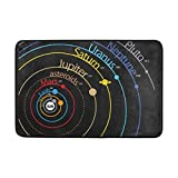 GDESFR Fußmatte Solar System Planet Fußmatte,Area Rug Rugs Non-Slip Indoor Outdoor Floor Mat Fußmattes for Home Decor 26.3 x 15.7 inches