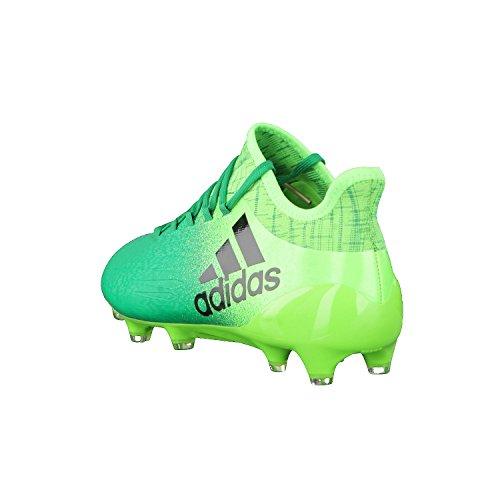 Adidas x 16.1FG–Chaussures de football pour homme, vert–(Versol/negbas/verbas) vert/noir/vert citron