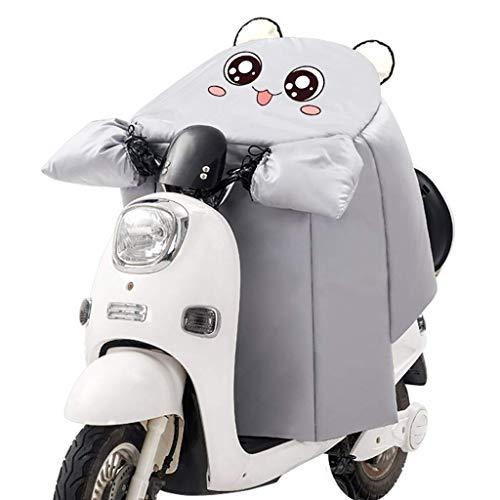 WOLJW Elektro-Scooter Windschutzscheibe Velvet Thick wasserdicht Winddicht Motorrad Abdeckung Warm Knieschützer Leg Cover Universal für Scooter,A