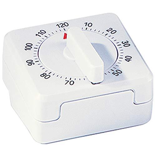ATLANTA - Kurzzeitmesser - Kunststoff weiß - viereckig - 120 Minuten - mechanisch