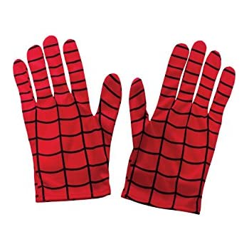 rubie s official kiid s spiderman gloves costume one size red rh amazon co uk Spider-Man Toys Spider-Man Shooting Gloves