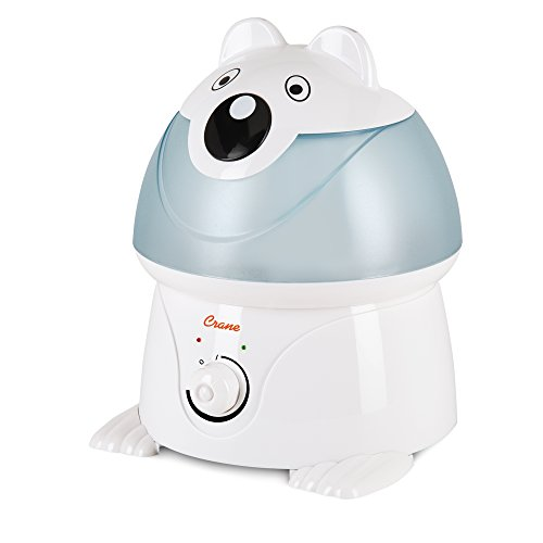 Crane Filter-Free Cool Mist Humidifiers for Kids, Polar Bear