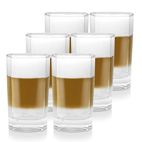3x Jura Latte Macchiato Gläser klein 2er für Ihren Latte Kaffee