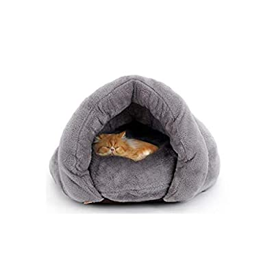 GWM Soft Warm Cat Nest Pet Mat Pad Cushion House Bed - Winter Washable Cat Tent Self- Warming Cat Sleeping Bed- Fleece Pet Cave Bed Winter Pets Puppy,Cat Houses & Condos by GWM