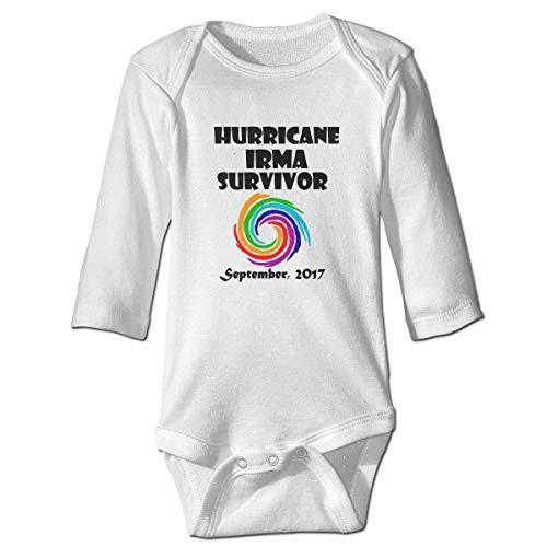 WBinHua T-Shirts für Baby-Jungen,Hurricane Irma Survivor Baby Infant Long Sleeve Onesies Bodysuits -