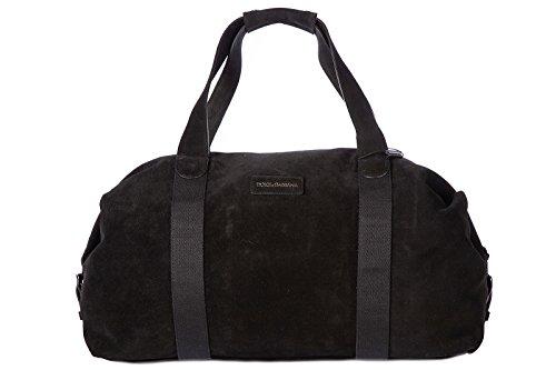 Dolce&Gabbana borsone viaggio borsa tracolla weekend in pelle nero