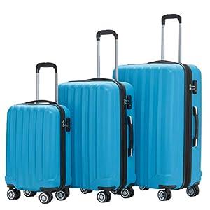 BEIBYE TSA-Schloß 2080 Hangepäck Zwillingsrollen neu Reisekoffer Koffer Trolley Hartschale Set-XL-L-M(Boardcase…