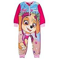 Girls Fleece Character Onesie Pyjamas Kids Childrens All in One Sleepsuit PJ