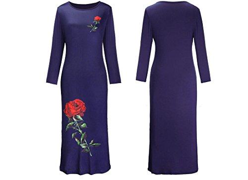 ycmdm-lunghi-delle-donne-gonne-estate-delle-lunghe-maniche-dress-rosa-dress-stampa-treasure-blue-xxl