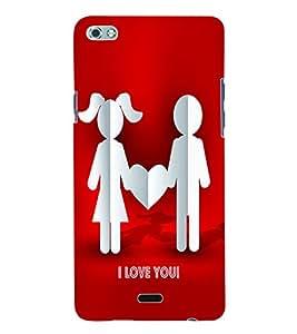 Fuson 3D Printed Valentine I Love You Couple Designer Back Case Cover for Micromax Canvas Sliver 5 Q450 - D592