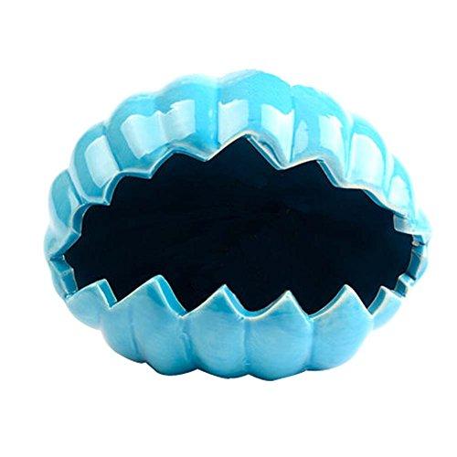 nun-design-muschel-muster-fest-blau-art-hamster-habitat-keramik-spielzeug