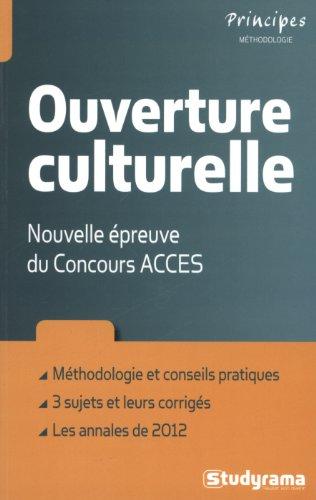Ouverture culturelle : Nouvelle épreuve du Concours ACCES par Gilbert Guislain