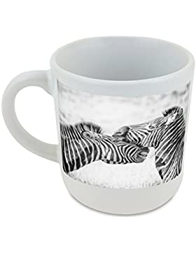 Zebra, animales salvajes, África, Safari, Wild redondo taza