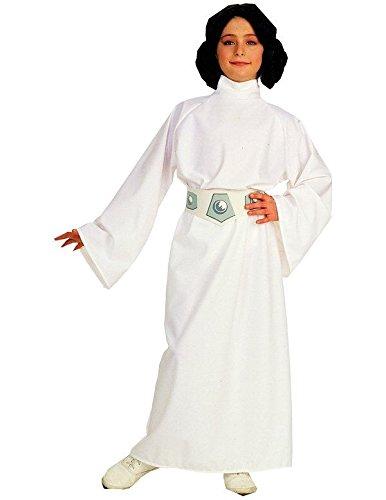 Star Wars Kinder Mädchen Fasching Halloween Karneval Kostüm Princess Leia (128-140 Medium) (Leia Prinzessin Halloween-kostüm Kinder Für)