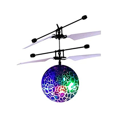 Magic Flying Ball by Spindee with red blue and green LED lights great hand suspension helicopter aircraft with intelligent sensing control system USB charging infrared induction toy by Spindee