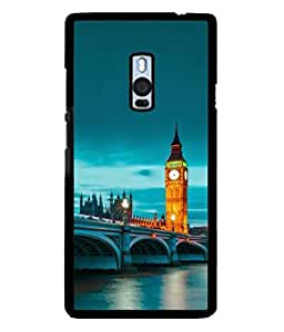 PrintVisa Designer Back Case Cover for OnePlus 2 :: OnePlus Two :: One Plus 2 (Tourist Boat Riding Clock Tower Ancient Wallpaper)