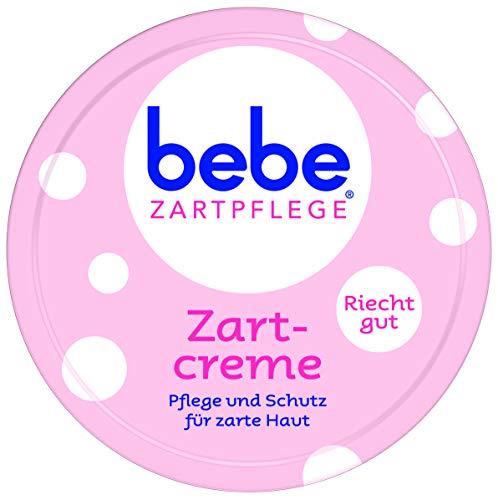 bebe Zartpflege Zartcreme, für zarte, junge Haut, feuchtigkeitsspendende Creme für Kinder, 6er Pack (6 x 150 ml) -