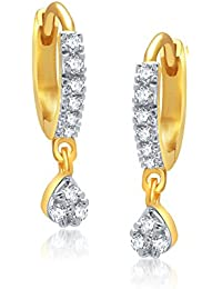 VK Jewels Gold And Rhodium Plated Alloy Bali Clip on Earrings for Girls