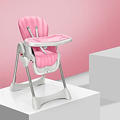 Sofa stool Brisk- Baby Dining Table And Chair Collapsible Multifunction Portable Eating Chair Seats Children's Dining Chair (Color : PINK)