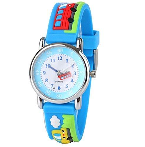 Mixe Wasserdichte Sport-Uhren Kinder 3D Bus Auto Fußball Design Style Armbanduhr mit Edelstahl Fall Rubber Strap Jungen Mädchen Zeit Lernen Geschenk ME356 (Spielzeug-auto-fall)