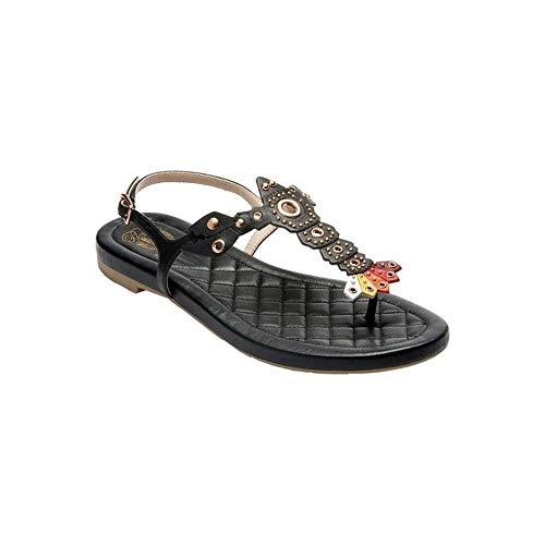 Cole Haan Frauen Pinch Lobster Sandal Split Toe Leger Flache Sandalen Schwarz Groesse 7 US /38 EU -