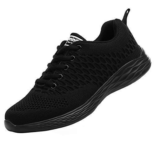 ALI&BOY Mujer Gimnasia Ligero Sneakers Zapatillas de Deportivos de Running para(41 EU, Negro/Negro)