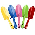 ENCOCO Mini Metal Flowerpot Shovel, Safe Gardening Tools Trowel Shovel for Children Kids (Random color)