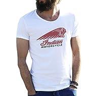 Indian Motorcycle American Bikers Logo Bianca T-shirt maglietta per uomo Medium