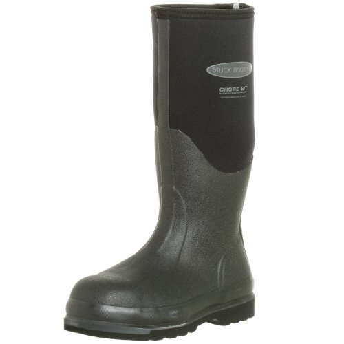 Muck Boots Chore Steel Toe, Bottes Wellington de Sécurité Mixte Adulte, Noir