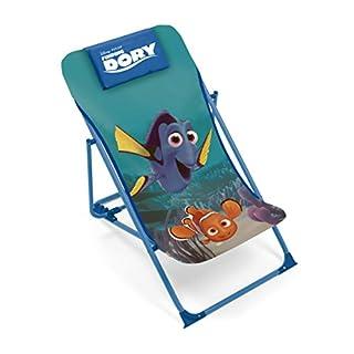 Arditex wd9922Sessel Garten- oder Strand verstellbar für Kinder unter Lizenz Finding Dory 43x 66x 61cm Stoff 61x 43x 66cm