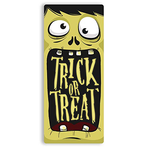 | Toasted Termine Hier | Monster Mund – Trick or Treat. | Metall Wandschild Aufschrift Frankenstein Monster