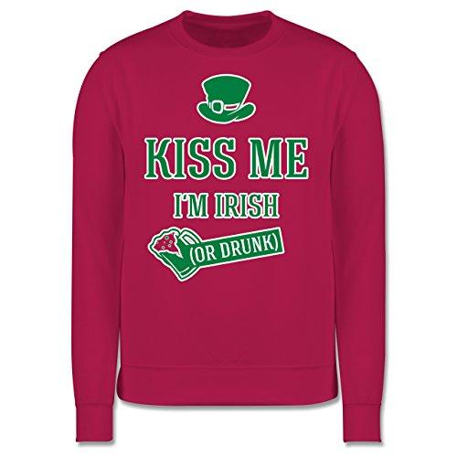 Festival - St. Patricks Day Kiss me I'm Irish or drunk - Herren Premium Pullover Fuchsia