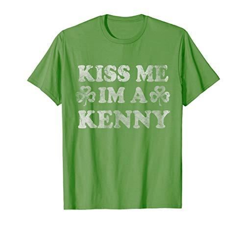 Kiss Me Im A Kenny Irish Family St Patricks Day T-Shirt -