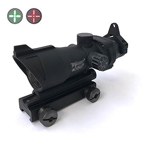 H Welt EU Militär Tactical ACOG Art 1x32 roter grüner Punkt-Gewehr-Anblick-Bereich fit 20mm QD-Einfassung für Airsoft Jagd AEG