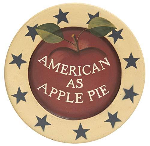 CWI Gifts American as Apple Pie Deko-Teller, Mehrfarbig Apple Pie Plate