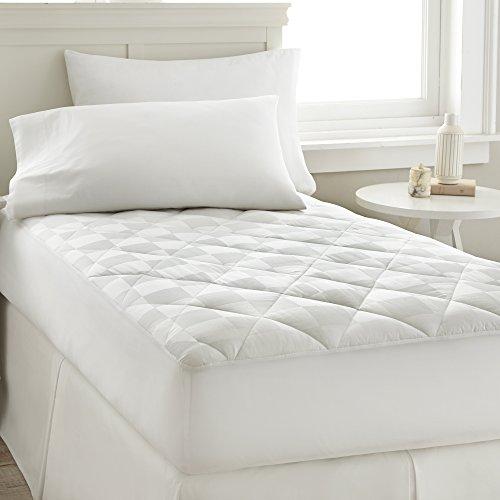 100 Pct Baumwolle (PCT T300-100% Baumwolle, Quadrate Dobby Matratzenauflage, super-King für die Cal, Baumwolle, Weiß)