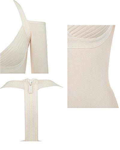 Whoinshop -  Vestito  - Astuccio - Maniche lunghe  - Donna Bianco