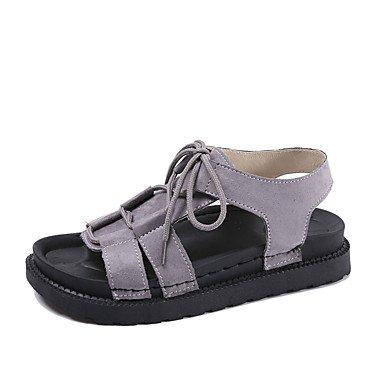 Tacchi estate primo Walkers PU Office & carriera abbigliamento sportivo a cuneo fibbia tacco nero argento Oro a piedi Gray