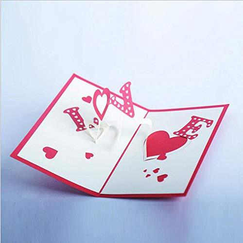 ZHOUBIN 2 fogli/set Carving And Hollowing Out 3D Cards/Greeting Cards/Regali di Natale di Capodanno/Desideri di compleanno