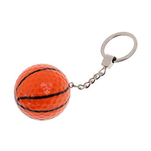 nhänger Keychain Fahrzeugschlüssel Handtaschenanhänger mit Kleinen Ball Dekor - Basketball (Basketball-dekor)